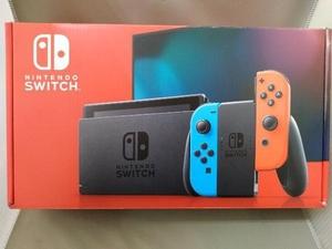 ニンテンドースイッチ/Nintendo Switch本体 Joy-Con(L) ネオンブルー/(R) ネオンレッド(HADSKABAA)【バッテリー拡張モデル】