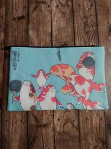 浮世絵 お土産 メイクポーチ コスメポーチ 歌川国芳 金魚づくし ポーチ 名画 化粧ポーチ