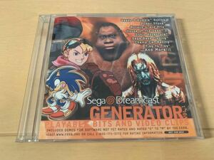 DC体験版ソフト Sega Dreamcast GENERATOR 北米版体験版 非売品 送料込み ドリームキャスト セガ DEMO DISC レア Sonic Adventure他