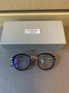 正規 Thom Browne. トムブラウン ウエリントン 眼鏡 メガネ TB-011-H-NVY-SLV-49