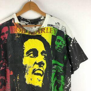 オリジナル!【90s MOSQUITOHEAD Tシャツ USA製 L】ビンテージ モスキートヘッド BOB MARLEY ボブマーレー 古着 レゲエ ラスタ 手刷り