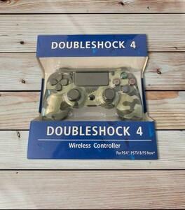 PS4 コントローラー グレー迷彩 互換品 無線ワイヤレス 新品