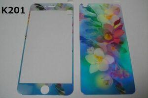 iPhone6 Plus iPhone6s Plus 5.5インチ 幻影 表裏セット 9H 0.26 強化ガラス 液晶保護フィルム 2.5D K201