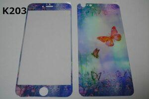 iPhone6 Plus iPhone6s Plus 5.5インチ 幻影 表裏セット 9H 0.26 強化ガラス 液晶保護フィルム 2.5D K203