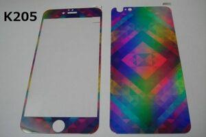 iPhone6 Plus iPhone6s Plus 5.5インチ 幻影 表裏セット 9H 0.26 強化ガラス 液晶保護フィルム 2.5D K205