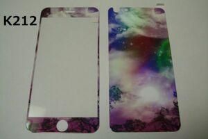 iPhone6 Plus iPhone6s Plus 5.5インチ 幻影 表裏セット 9H 0.26 強化ガラス 液晶保護フィルム 2.5D K212