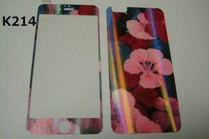 iPhone6 Plus iPhone6s Plus 5.5インチ 銀ラメ 表裏セット 9H 0.26 強化ガラス 液晶保護フィルム 2.5D K214