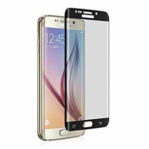 Galaxy S7 edge SC-02H SCV33 9H 0.26mm 枠黒色 全面保護 強化ガラス 液晶保護フィルム 2.5D KC97