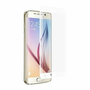Galaxy S7 edge SC-02H SCV33 9H 0.26mm 枠白色 全面保護 強化ガラス 液晶保護フィルム 2.5D KC98