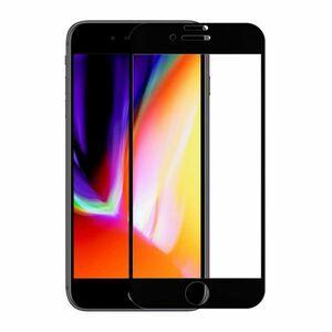 iPhone7 iPhone8 4.7インチ 9H 0.26mm 枠黒色 全面保護 強化ガラス 液晶保護フィルム 2.5D KC119