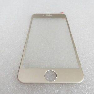 iPhone6 iPhone6s 4.7インチ 9H 0.26mm 金色 チタン 全面保護 強化ガラス 液晶保護フィルム 3D曲面カバー 2.5D KA43