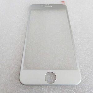 iPhone6 iPhone6s 4.7インチ 9H 0.26mm 銀色 チタン 全面保護 強化ガラス 液晶保護フィルム 3D曲面カバー 2.5D KA44