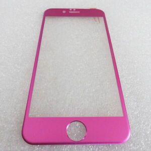 iPhone6 Plus iPhone6s Plus 5.5インチ 9H 0.26mm 桃色 チタン 全面保護 強化ガラス 液晶保護フィルム 3D曲面カバー 2.5D KA51