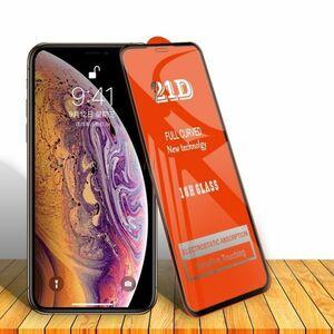 iPhone XS MAX 6.5インチ 11H 0.26mm 枠黒色 強化ガラス 液晶保護フィルム 21D K619