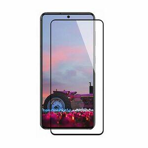 Galaxy S21 5G 6.2インチ 9H 0.26mm 枠黒色 指紋認証対応 強化ガラス 液晶保護フィルム 2.5D K339