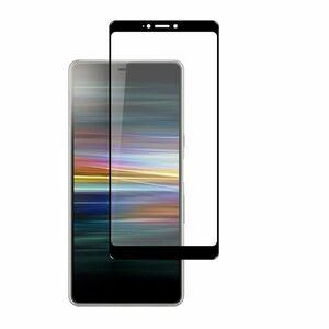 Xperia L3 Dual 5.7インチ 枠黒色 9H 0.26mm 強化ガラス 液晶保護フィルム 2.5D K121
