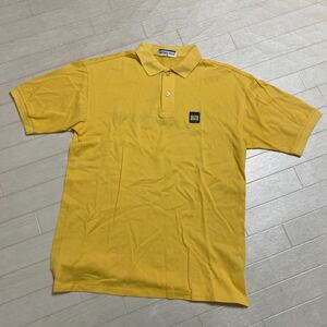 1959☆ Munsingwear マンシングウェア トップス ポロシャツ カットソー 半袖 ゴルフ GOLF 鹿の子SA メンズ イエロー バックプリント 日本製