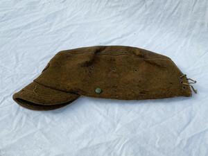 戦前 戦中 戦後 民間物? 国民服 つば付き ウール 帽子 ジャパンヴィンテージ JAPAN VINTAGE 旧日本軍 軍帽 制帽 戦争資料 30s40s