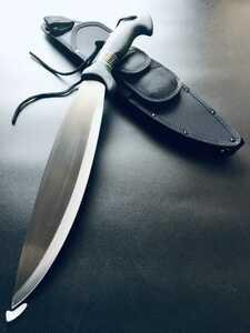 期間限定価格。送料無料。おすすめ。全長52CM、ブレード長: 約35.5CM!超大型ナイフ、サバイバルナイフ、ハンティングナイフ
