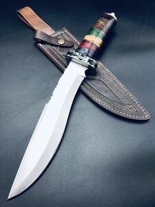 期間限定価格。送料無料。高品質 ブレードは切れ味鋭いD2工具鋼 ! シースナイフ サバイバルナイフ ハンティングナイフ