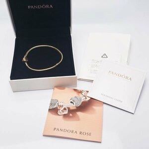 送料込【正規品】PANDORA パンドラ 585(K14イエローゴールド) ブレスレット 定価20万以上