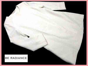 ▲★be radiance ビーラディエンス♪ホワイトカラーコート♪膝丈薄手コート♪サイズ記載なし
