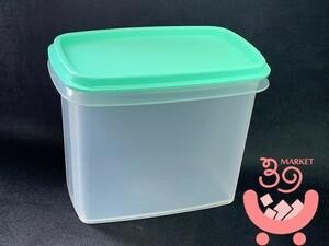 新品未使用 タッパーウェア シェルフセーバー ( ベビースプーン付) ta466③  保存容器 グリーン