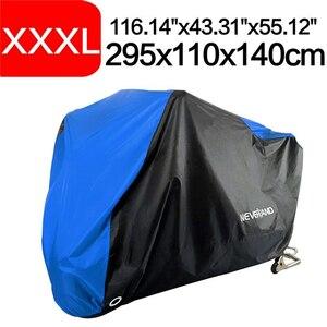 新品 190T 防水 カバー オートバイ バイク ダスト 防雨 防雪 抗紫外線 屋内 屋外 D35 XXXL-青
