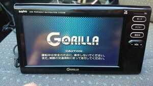 SANYO ワンセグ内蔵 ポータブルナビ Gorilla NV-SD581DT 中古品