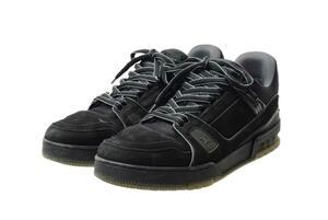 827 LOUIS VUITTON ルイ ヴィトン LV トレイナーライン スニーカー シューズ 靴 メンズ 黒 サイズ:8 メンズ 送料無料