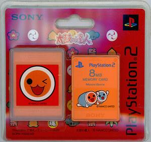 【ゆうパケット対応】SONY PS2用メモリーカード(8MB) Premium Series 太鼓の達人 SCPH-10020 KR