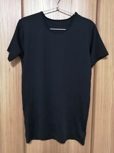 スポーツインナー2枚セット ストレッチ ドライ  ブラック Mサイズ 半袖Tシャツ 2枚目ストレッチインナーシルク素材Lサイズ