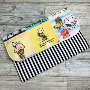 アイスクリーム柄 スヌーピー マルチケース ポーチ ハンドメイド