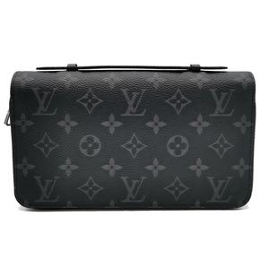 送料無料 未使用 ルイヴィトン セカンドバッグ クラッチバッグ 鞄 M61698 モノグラム エクリプス ジッピーXL チャコールブラック系 メンズ