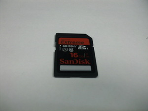 SDHCカード SanDisk Extreme 16GB フォーマット済み 送料63円 (ミニレター) メモリーカード SDカード