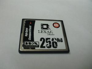 ヨゴレ有 CFカード 256MB メガバイト Lexar フォーマット済み 送料63円(ミニレター) コンパクトフラッシュカード compact flash