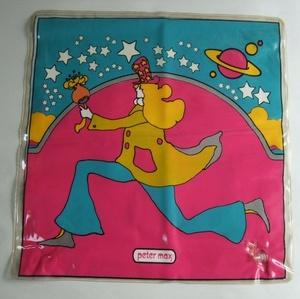 当時物 ビンテージ Peter Max ピーターマックス ビニール製 エアークッション VINTAGE 60s 70s ディスプレイ インテリア US雑貨 サイケ