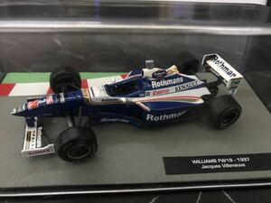 ウィリアムズ FW19 ジャック ヴィルヌーブ ロスマンズ仕様 1997年 1/43 Deagostini F1マシンコレクション デアゴスティーニ