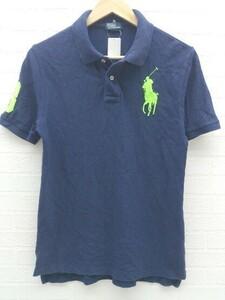 ◇ polo by ralph lauren キッズ 子供服 ビッグポニー 半袖 ポロシャツ サイズL 14-16 ネイビー メンズ 1002800340743
