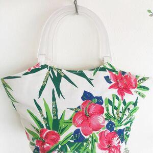 トートバッグ 花柄 ハンドメイド