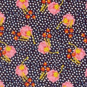 リバティ ジュニパー ピンク&ネイビー 生地幅×200cm 国産タナローン はぎれ 花柄 お花