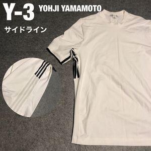 Y-3 YOHJI YAMAMOTO ワイスリー ヨウジヤマモト サイドライン 半袖 Tシャツ ビッグシルエット ロゴ メンズ XL アディダス adidas
