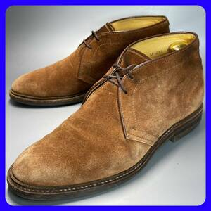 ■即決 UNION IMPERIAL 6 約24cm メンズ 茶 ブラウン スエード チャッカブーツ ユニオンインペリアル 革靴 レザーブーツ 中古 *管理921
