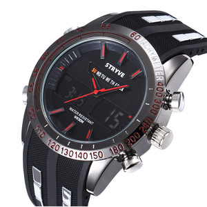 JLY092-1#STRYVEラグジュアリーメンズ腕時計 防水 LED デジタル クォーツ ミリタリー 日本未入荷 海外ブランド