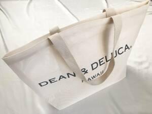 【新品未使用】DEAN&DELUCA ハワイ限定 メッシュトートバッグ(ホワイト)内ポケット付き エコバッグ ディーンアンドデルーカ