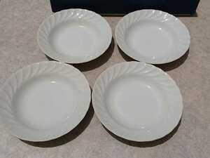 スープ皿 洋食器 4枚セット 白 ホワイト シンプル