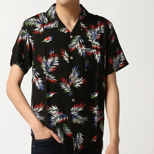 【送料無料】SPENDY'S Store レーヨンアロハシャツ(総柄) C-BLACK Mサイズ 新品
