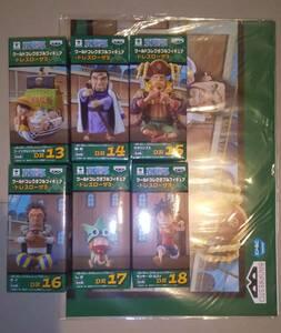 ワンピース ワールドコレクタブルフィギュア-ドレスローザ3- 全6種セット 新品未開封 ポスター付き(多少傷み有り)