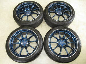 light weight!ADVAN Racing( Advan racing ) RZⅡ 8J-17 off+45 pcd100/5H 215/45R17 mountain equipped with tire 4ps.@86,BRZ, Corolla sport, Legacy