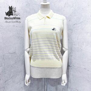 日本製イエローボーダーノースリーブポロシャツ